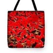 Abstract 124 Red Flowers Tote Bag