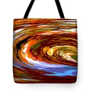 Abstract #140814 - Inside The Pipeline Tote Bag