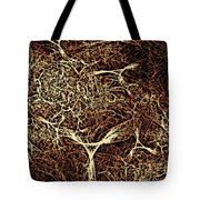 Abstract Angels Woodcut Tote Bag
