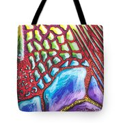 Abstract Animal Print Tote Bag