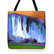 Abstract Arizona Mountains At Icy Dawn Tote Bag