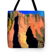 Abstract Arizona Mountains At Sunset Tote Bag