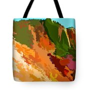 Abstract Arizona Mountains In The Afternoon  Tote Bag