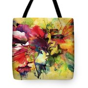 Abstract Art Tote Bag by Catf
