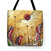 Abstract Art Cityscape Original Painting The Garden City By Madart Tote Bag