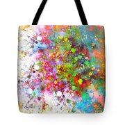 abstract art COLOR SPLASH on Square Tote Bag