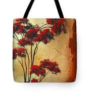 Abstract Art Colorful Original Landscape Painting Birds Aloft By Madart Tote Bag