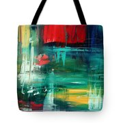 Abstract Art Colorful Original Painting Bold And Beautiful By Madart Tote Bag