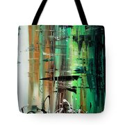 Abstract Art Colorful Original Painting Green Valley By Madart Tote Bag