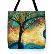Abstract Art Contemporary Painting Summer Blooms By Madart Tote Bag