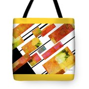 abstract art Homage to Mondrian Tote Bag