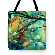Abstract Art Landscape Circles Painting A Secret Place 2 By Madart Tote Bag