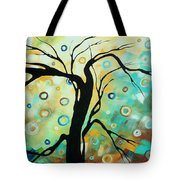 Abstract Art Landscape Circles Painting A Secret Place 3 By Madart Tote Bag