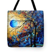 Abstract Art Landscape Metallic Gold Textured Painting Eye Of The Universe By Madart Tote Bag