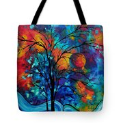 Abstract Art Landscape Tree Bold Colorful Painting A Secret Place By Madart Tote Bag