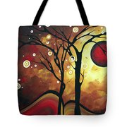 Abstract Art Original Landscape Painting Catch The Rising Sun By Madart Tote Bag