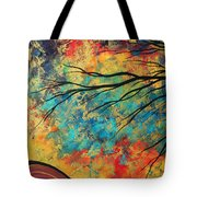 Abstract Art Original Landscape Painting Go Forth I By Madart Studios Tote Bag