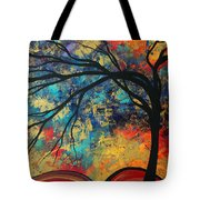 Abstract Art Original Landscape Painting Go Forth II By Madart Studios Tote Bag