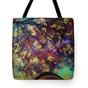 Abstract Art Original Landscape Painting Go Forth IIi By Madart Studios Tote Bag