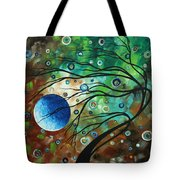Abstract Art Original Landscape Painting Mint Julep By Madart Tote Bag