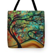Abstract Art Original Landscape Wild Abandon By Madart Tote Bag