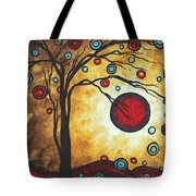 Abstract Art Original Metallic Gold Landscape Painting Freedom Of Joy By Madart Tote Bag