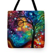 Abstract Art Original Painting Winter Cold By Madart Tote Bag