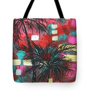 Abstract Art Original Tropical Landscape Painting Fun In The Tropics By Madart Tote Bag by Megan Duncanson