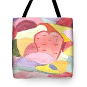 Abstract Art Red Dominant Tote Bag