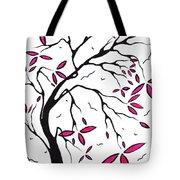 Abstract Artwork Modern Original Landscape Pink Blossom Tree Art Pink Foliage By Madart Tote Bag by Megan Duncanson