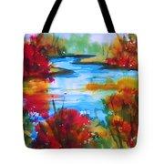 Abstract - Autumn Blaze On Catskill Creek Tote Bag