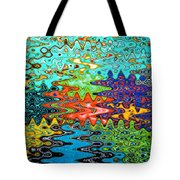 Abstract Background With Bright Colored Waves 1 Tote Bag