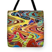 Abstract Background With Bright Colored Waves 17 Tote Bag