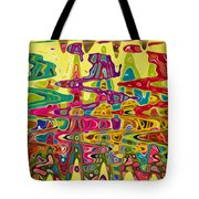 Abstract Background With Bright Colored Waves 5 Tote Bag
