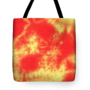 Abstract Batik In Yellow And Red Shades Tote Bag
