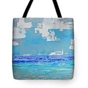 Silver Sky Beach Tote Bag