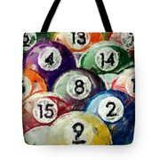 Abstract Billiards Rack Tote Bag