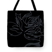 Abstract Black Rose  Tote Bag