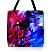 Abstract Blue And Pink Festival Tote Bag by Andrea Anderegg