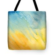 Abstract Blue And Yellow Tote Bag