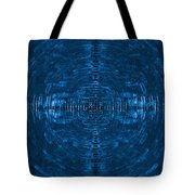 Abstract Blue Electric Circuit Future Technology_oil Painting On Canvas Tote Bag