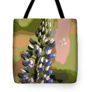 Abstract Blue Lupine Tote Bag