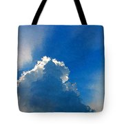 Abstract Blue Sky And Cloud Tote Bag