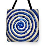 Abstract Blue Swirl Tote Bag