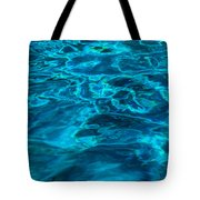 Abstract Blue Water Tote Bag