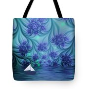 Abstract Blue World Tote Bag