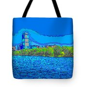 Abstract Boston Skyline Tote Bag