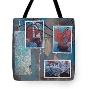 Abstract Branch Collage Trio Tote Bag