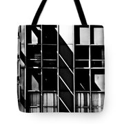 Abstract Building Fascade With Light And Shadow Tote Bag
