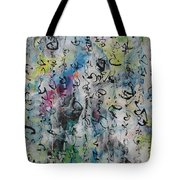 Abstract Calligraphy 00 Tote Bag
